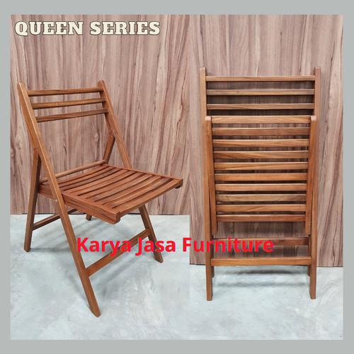 Foto Produk KURSI LIPAT KAYU JATI (QUEEN) - Cokelat dari Karya Jasa Furniture Manufacturer