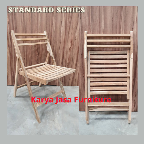 Foto Produk KURSI LIPAT KAYU JATI (STANDARD) dari Karya Jasa Furniture Manufacturer