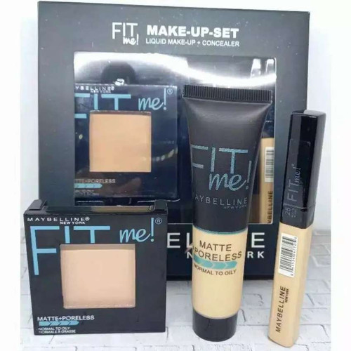 Foto Produk Maybelline Fit Me 3in1 - Bedak - Foundation - Concealer dari Key_Logistic_Shop