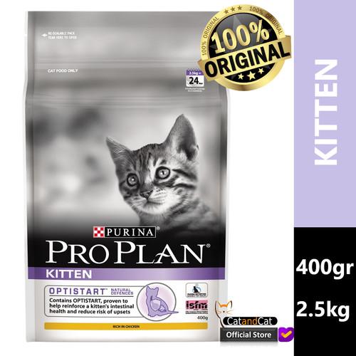 Foto Produk PRO PLAN Kitten 400gr dan 2.5kg Rasa Chicken, Makanan Anak Kucing - 400gr dari catandcat