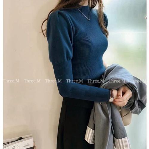 Foto Produk Nicole Knit Lengan Panjang Import TM 1943 - Biru dari PiStar Women