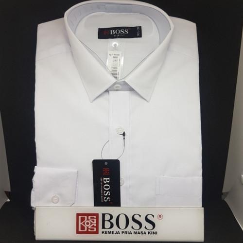Foto Produk Kemeja Boss polos putih dan Warna Slim fit - Hitam, S dari Kalimas_Bandung