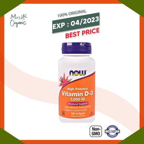 Foto Produk NOW Vitamin D-3 1000 IU - 180 SGELS dari Mrs Organic
