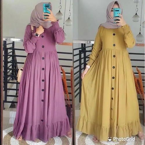 Foto Produk Baju Gamis Syari Wanita Terbaru Alesha Plain Maxy Termurah dari hijabafwa