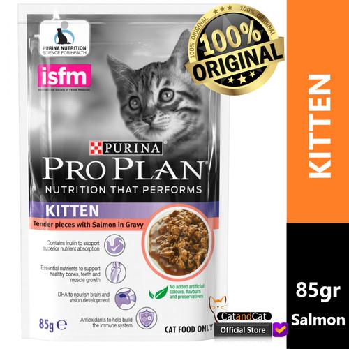 Foto Produk PRO PLAN Kitten Pouch 85gr Rasa Chicken & Salmon, Makanan Anak Kucing - Salmon dari catandcat