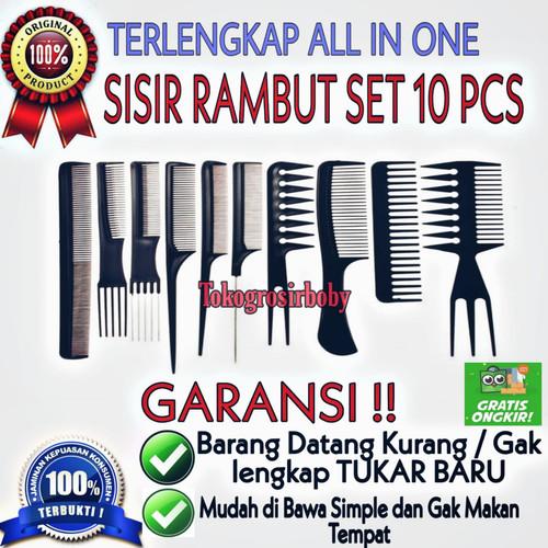 Foto Produk Sisir Rambut Wanita / Pria 1 Set Isi 10 Aneka Fungsi Merias dan Menata - 10PCS / SET dari tokogrosirboby