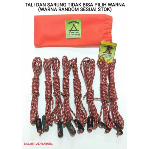 Foto Produk Paket Tali prusik dan Stopper guyline untuk flysheet dan tenda dari nadhira morganite