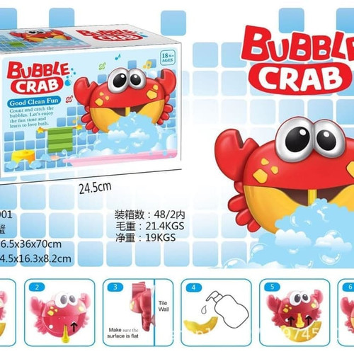 Foto Produk Bubble crab X18001 Mainan Kepiting Busa Teman Mandi Anak Bubble Marker dari ciustoys