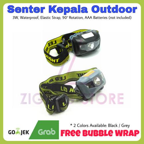 Foto Produk Senter Kepala / Headlamp Waterproof New Model - Gray - Abu-abu dari ZigZag-Store