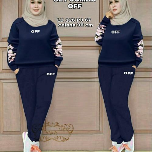 Foto Produk Setelan Celana Jumbo Off - Navy dari my trend fashion
