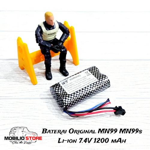 Foto Produk Spare Part - Baterai Li-Ion 7.4 V 1300 mAh SM JST Plug Rc MN WPL dari Mobilio Store
