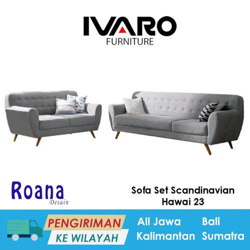 Foto Produk Ivaro Sofa Set Scandinavian Hawai 32 Seater dari Ivaro Furniture
