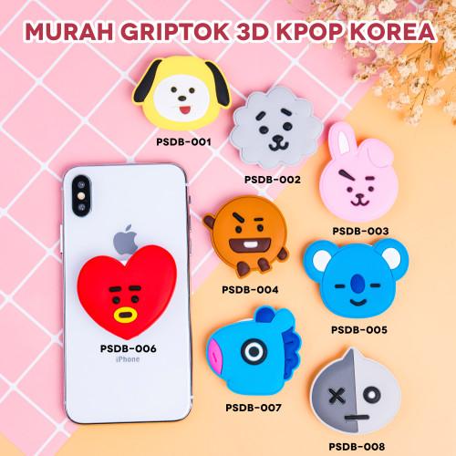 Foto Produk (MURAH) KPOP KOREA - Griptok 3D/ Phone Holder PVC/ Phone Grip - PSDB-003 dari Kelontong Unik