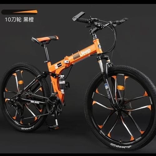 Foto Produk ❤️100 % original ❤️ Sepeda Lipat - Mountain bike Jeep - Orange dari Koreanholicshop