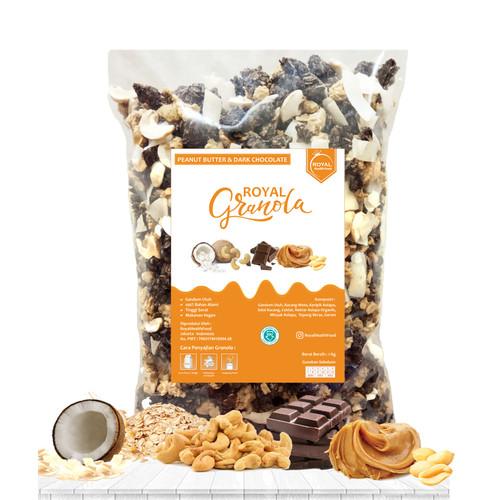 Foto Produk ROYAL Granola 1 KG PEANUT BUTTER & DARK CHOCOLATE dari RoyalHealthFood