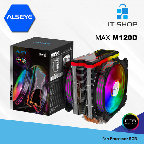 Foto Produk Alseye Fan Processor 4 Pipa MAX M120D RGB dari IT-SHOP-ONLINE