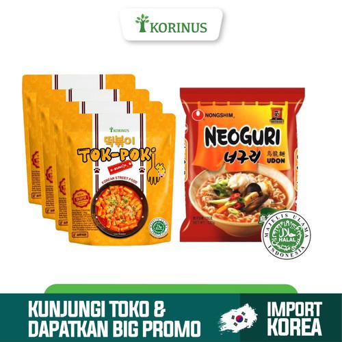 Foto Produk Paket Hemat 4 Tokpoki + Nongshim Neoguri udon Halal Korea dari KORINUS