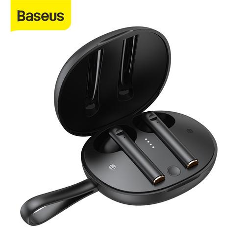 Foto Produk BASEUS TRUE WIRELESS BLUETOOTH EARPHONE EARBUDS TWS W05 - Hitam dari Baseus Official Store