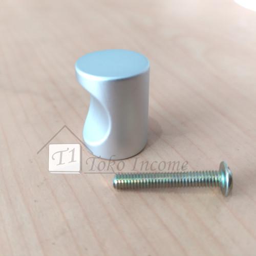 Foto Produk T. 646 Aluminium / Handle Knop Bulat / Tarikan Laci Lemari Kabinet dari Toko Income