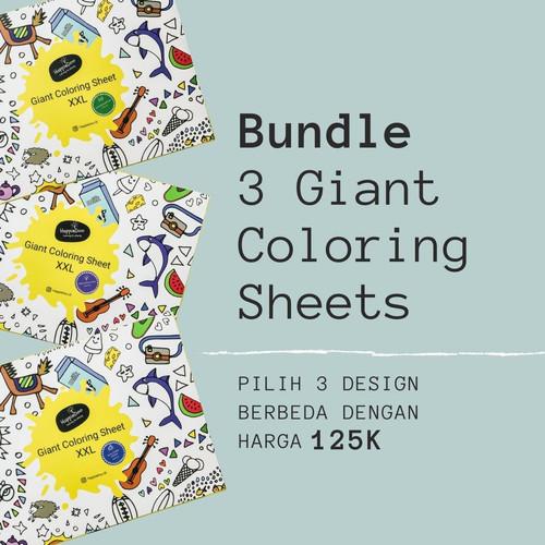 Foto Produk Giant Coloring Sheet Bundle(3designs)/ Coloring Poster Kertas Mewarnai dari Happiedoo
