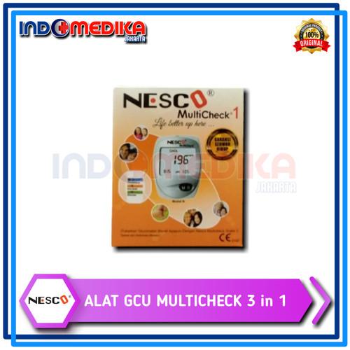 Foto Produk Alat Nesco Multicheck 3In1 GCU Tes Gula Darah, Kolesterol & Asam Urat dari INDOMEDIKA JAKARTA