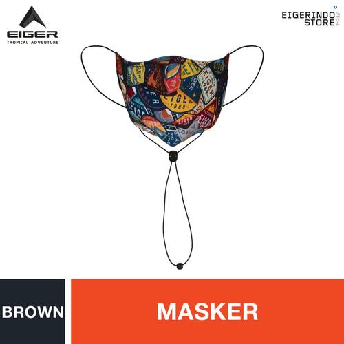 Foto Produk Eiger 1989 E89 Pattern Face Mask - Brown dari Eigerindo Store