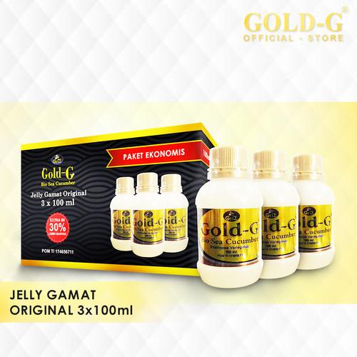 Foto Produk Jelly Gamat Gold G Bio Sea Cucumber 100ml X 3pcs dari Gold-G Official