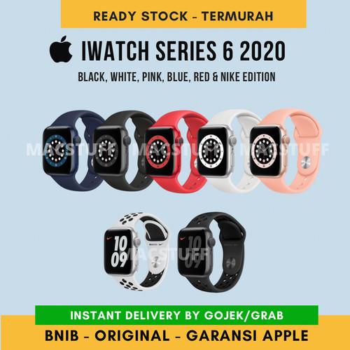 Foto Produk Apple iWatch Series 6 2020 40mm 44mm Blue Black White Pink Red S6 Nike - 40MM, Black dari Macstuff