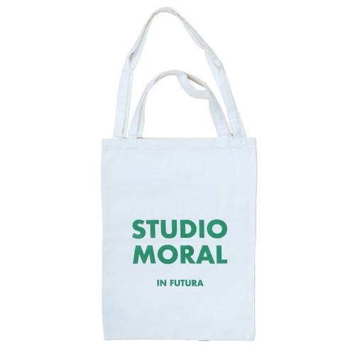 Foto Produk Tote Bag Vertical Shopper Studio Moral in Futura - Text Green dari MORAL