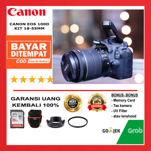 Foto Produk Canon 100d kit 18-55mm Canon eos 100d kit dari SAKURA CAMERA