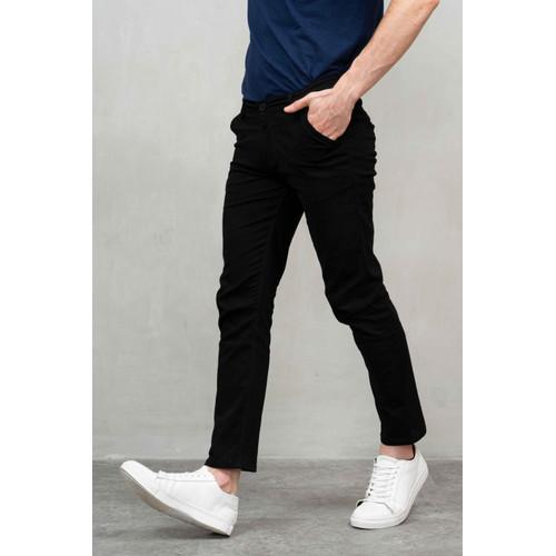 Foto Produk Houseofcuff Celana Chino Panjang Pria Slim fit Stretch Jeans Hitam - 27 dari House of Cuff