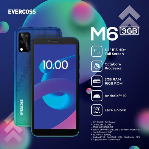 Foto Produk Evercoss M6 3/16 Ram 3GB Internal 16GB Garansi Resmi dari dk-cell