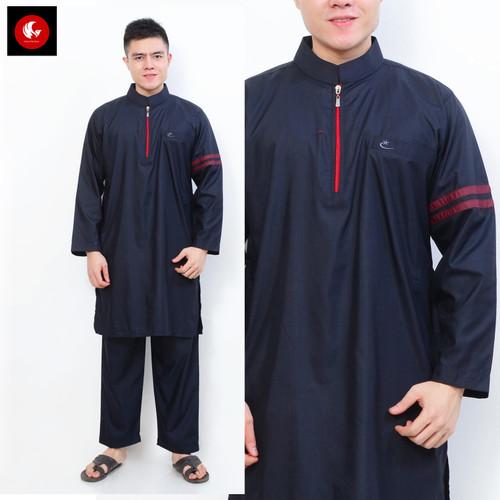 Foto Produk Setelan Muslim Gamis Pria Nabawi Navy AL-ISRA - Size S dari Okechuku