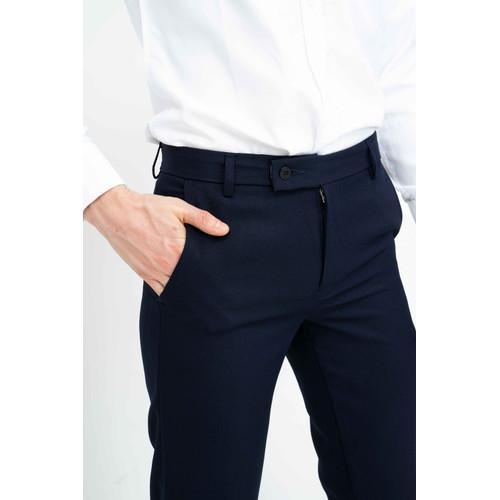 Foto Produk Celana panjang pria slim fit kerja formal button celana bahan stretch - Abu-abu, 28 dari House of Cuff