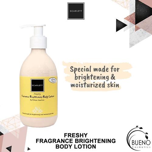 Foto Produk SCARLETT SCARLET FRESHY FRAGRANCE HAND AND BODY WHITENING LOTION ORIG dari Bueno Cosmetics