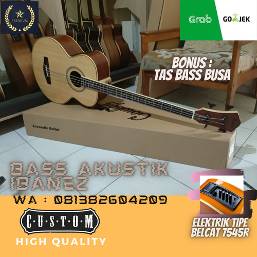 Foto Produk Bass akustik ibanez neck maple dari Travertine music