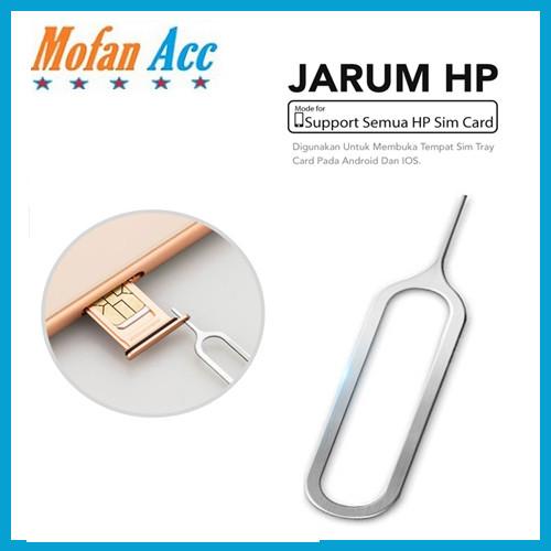 Foto Produk Pin Jarum Sim Card Jarum Pembuka Simcard / Tusukan Kartu Simcard HP dari mofan accesories