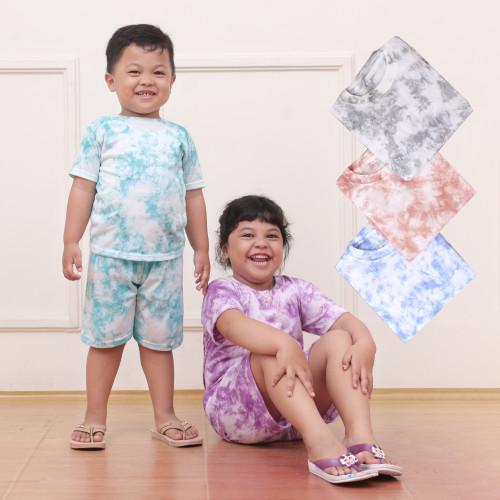 Foto Produk [BISA COD] TIEDYE SHIRT - tiedye t-shirt - set tie dye kaos anak 2-8th - random, 0 dari Batik kepodangmas grosir daster kaos