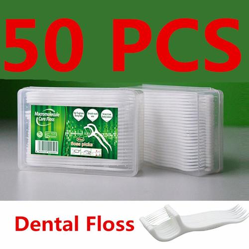 Foto Produk Macromolecul carea floss benang tusuk gigi pembersih sela gigi isi 50 dari lbagstore
