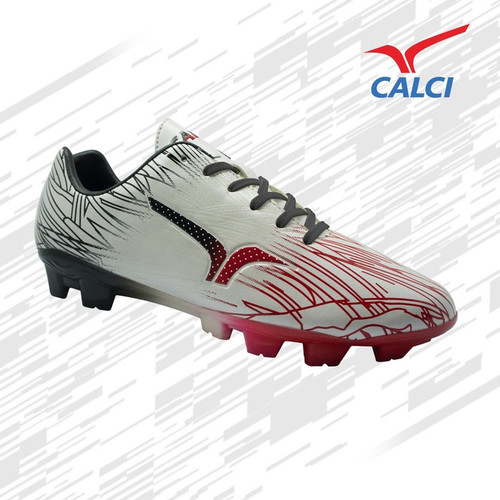 Foto Produk Sepatu Bola Calci Vicious SC - White/Black/Paprika Red dari KICKOFF SPORTS