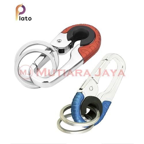 Foto Produk PLATO Gantungan Kunci Motor Mobil 2 Ring Keychain High quality - Biru dari TB.Mutiara Jaya