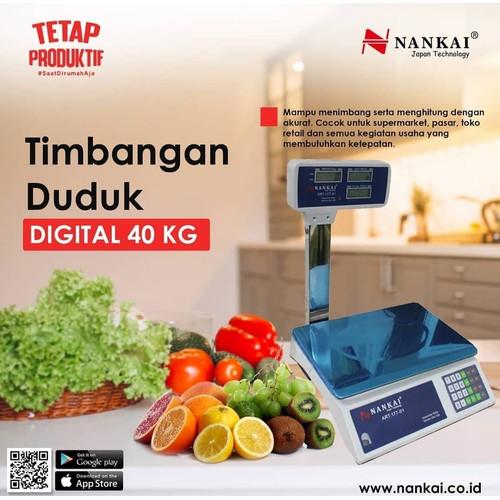 Foto Produk Nankai Timbangan Duduk Digital 40Kg 40 kg PROMO dengan tiang dari TOKO BESI TIMUR JAYA