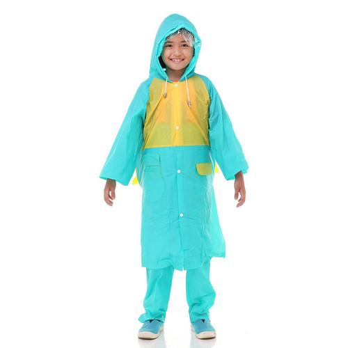 Foto Produk Jas Hujan Anak Happy Kids 68333 Setelan Tiger Head - Biru Muda dari Tabasa Indonesia