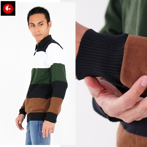 Foto Produk Okechuku BRUNO Sweater Pria Knit Sweater Rajut Pria Switer Sweter Pria dari Okechuku