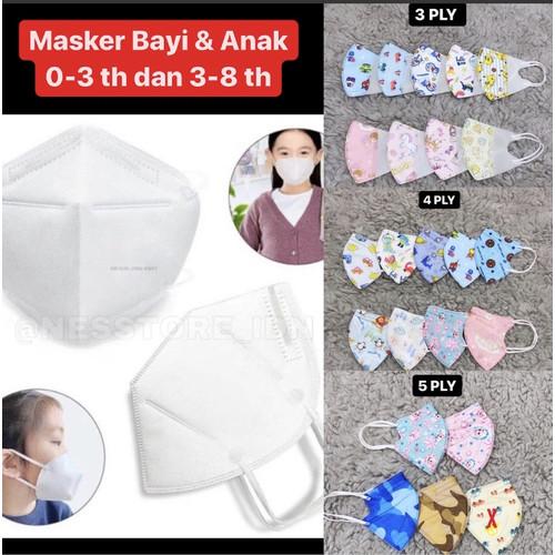 Foto Produk Masker Anak N95 5 Ply/ Masker Anak Anti Virus - 3PLY-BAYI-CWE dari nesstore.idn