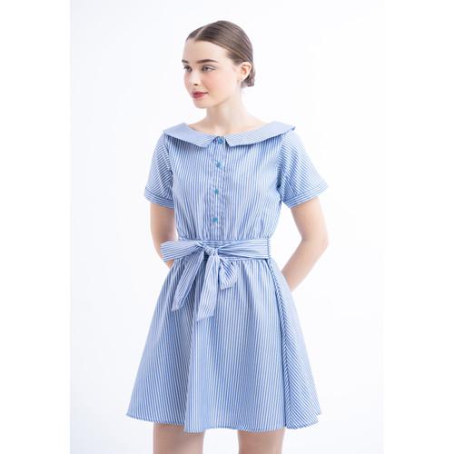 Foto Produk Johana Stripe Dress - M dari Voerin Official