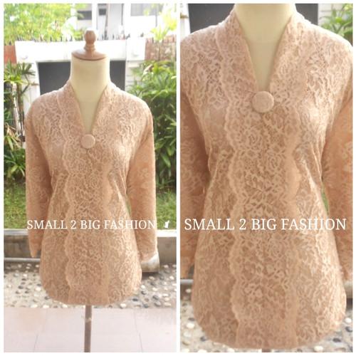 Foto Produk atasan kebaya brokat jumbo / baju pesta brukat big size xxl 3L 4L dari Small 2 Big Fashion