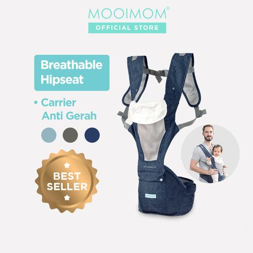 Foto Produk MOOIMOM Breathable Hipseat Carrier Gendongan Bayi - Navy Blue dari MOOIMOM Official
