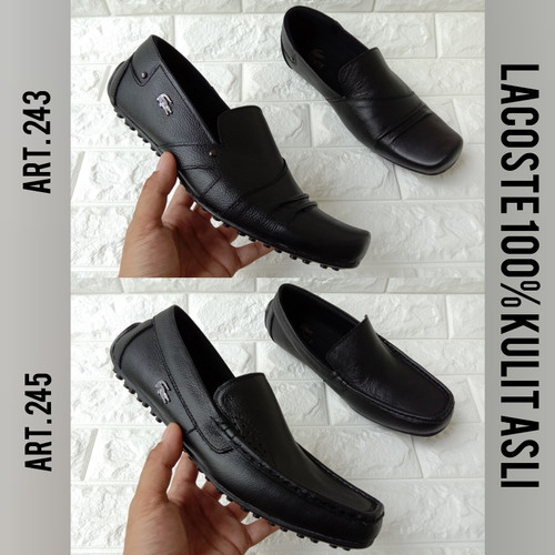 Foto Produk Sepatu Kulit Asli Lacoste Pantofel Pria Sepatu Kantor Formal Kulit dari aneka sepatu99