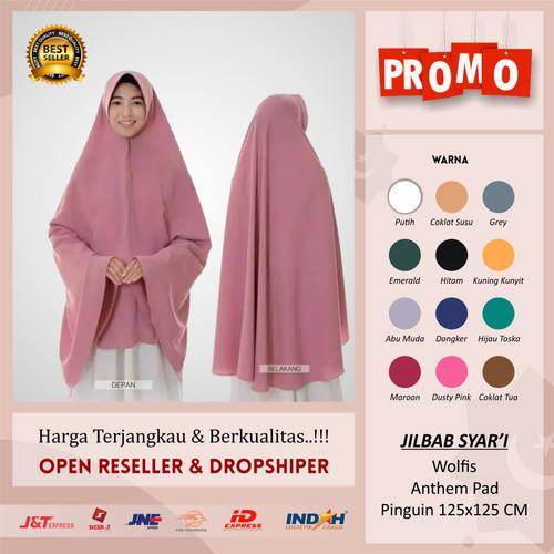 Foto Produk BERGO PET JUMBO wolfis kerudung khimar jumbo jilbab jumbo syari instan - J.125 KUNYIT dari Rezeki_hijab99
